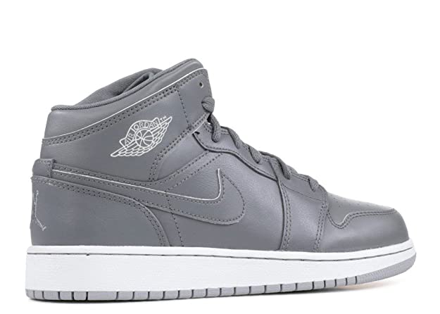 los angeles 948ca c20d7 Amazon.com   Nike Jordan Kids Air Jordan 1 Mid Bg Cool Grey White Wolf Grey  Basketball Shoe 6.5 Kids US   Basketball