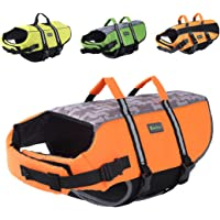 Wellver Dog Life Jacket, Pet Life Saver Swimsuit Preserver Training Vest for Swimming