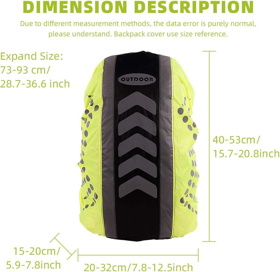 Backpack Rain Cover Nylon Waterproof Reflective Rain Protection Rucksack for Hiking Camping Traveling Cycling 30-40L