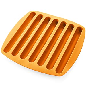 Silicone Ice Cube Sticks Tray - Orange Color - Stick Size Ice Cube Tray - Perfectly Shaped For Fitting In Water Bottles – Colorful. Flexible And Non-Stick – By Kitch N' Wares