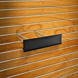 New Retails Black Extended Graphic Sign Holder Fits to Pegboard 4''H x 11.75''L