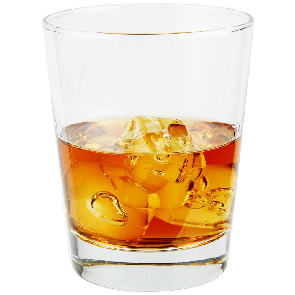 Set of 6 Libbey 816CD Heavy Base Double Rocks / Old Fashioned Glass, 15 ounce, w/ Signature Party Picks