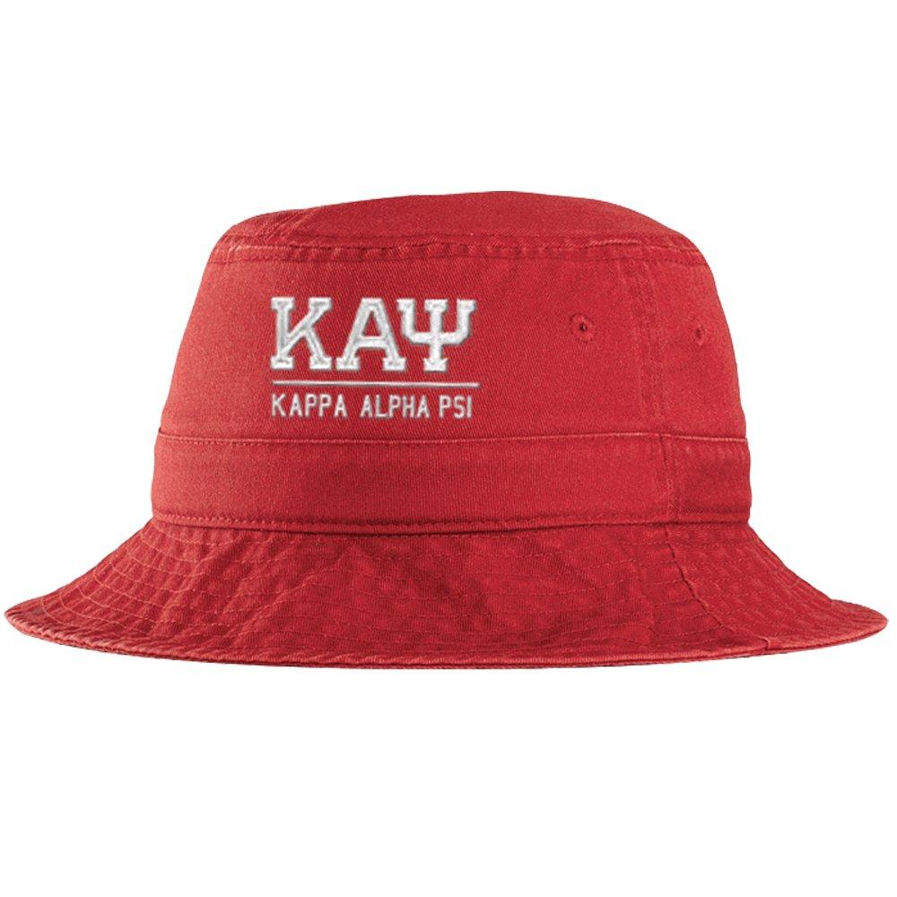 3b07d0f76 Kappa Alpha Psi Greek Letter Bucket Hat Red at Amazon Men's Clothing ...