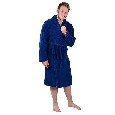 Mens Luxury Coral Fleece Bath Robe Tie Belt Dressing Gown Housecoat ...