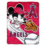 """The Northwest Company Officially Licensed MLB Los Angeles Angels 46"""" x 60"""" Micro Raschel Throw Blanket"""