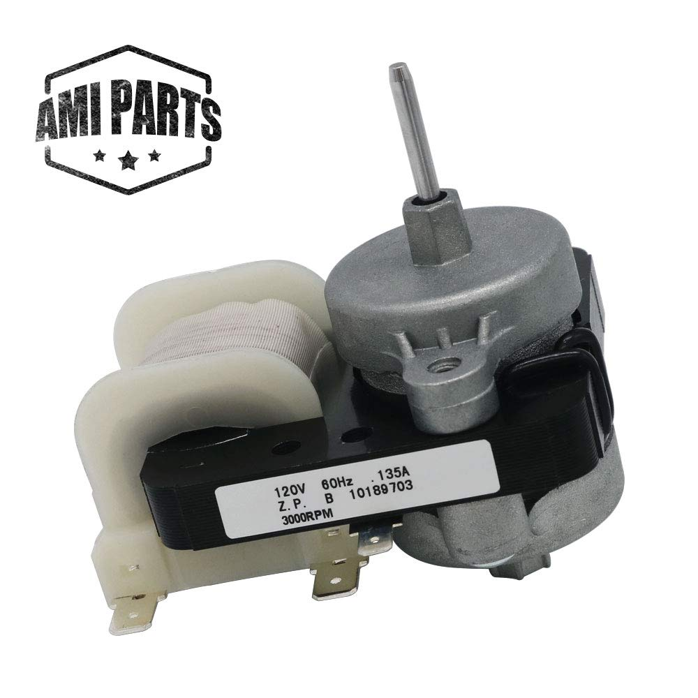 W10189703 Evaporator Fan Motor for Refrigerators by AMI,Compatible with Whirlpool, Maytag & Kenmore,To Be Able To Replace 4389146, W10208121,PS11749890,10449505,WPW10189703