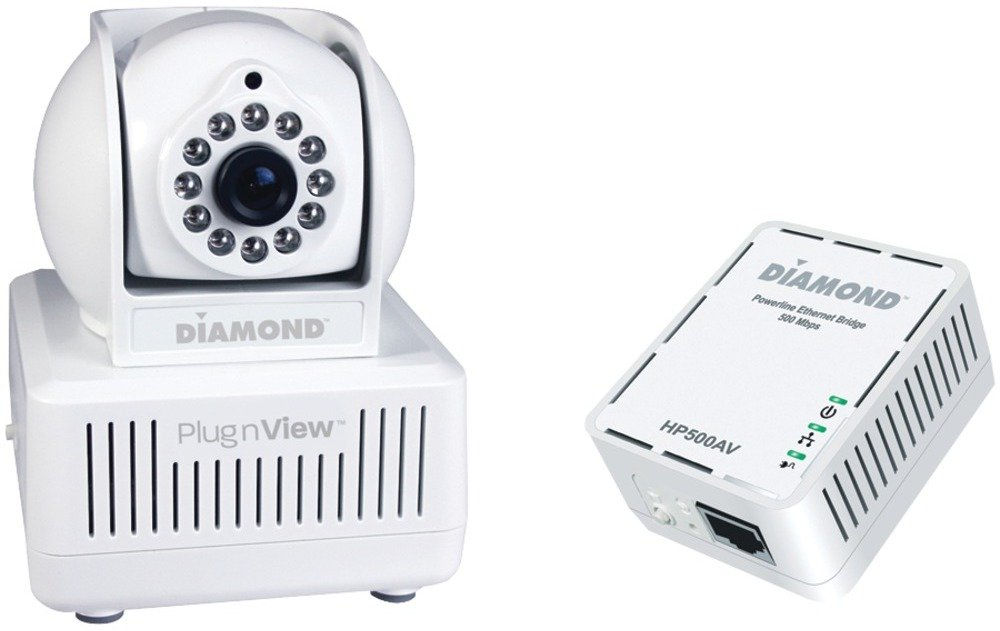 PlugnView Remote Baby Monitoring Internet Night-Vision Security Camera Kit
