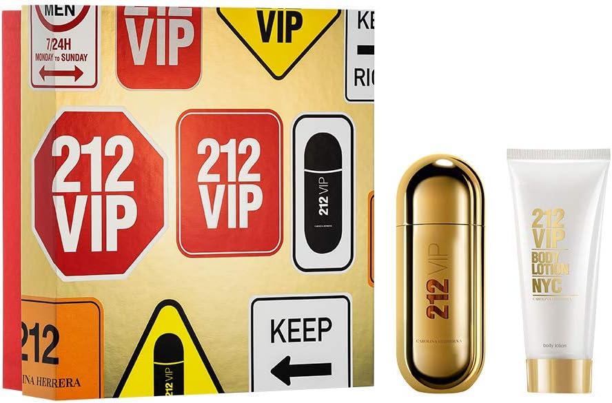 banner Kit feminino Carolina Herrera 212 Vip EDP 50ml + Loção Hidratante 75ml