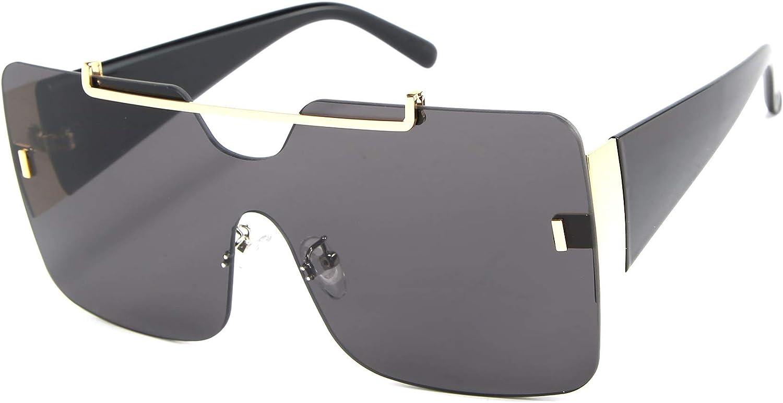 Armear Women Fashion Square Sunglasses Oversized Shield UV400 Protection Gradient Sunglasses