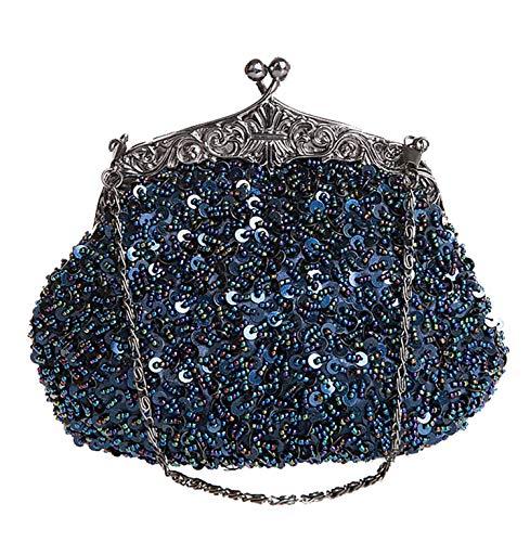 chaîne Paillettes métalliques d'autres Sangle D Parti de Femme Perles Jours à H fériés de Bal soirée Sac Main 7x6inch 19x16cm Sac 4Wq8IX