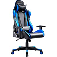 GTRACING Gaming Chair Office Chair Racing Computer Chair Ergonomic Design with Adjustable Headrest & Armrest and Lumbar Support (Blue)