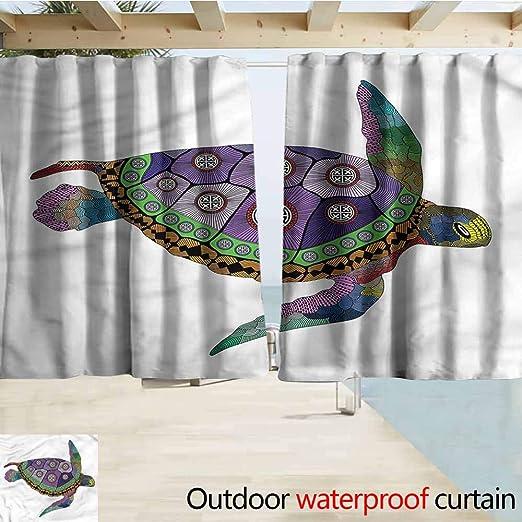 Beihai1Sun Cortina de Puerta corredera psicodélica con símbolo de occulto Sagrado, oscurecimiento térmico, Aislamiento Opaco: Amazon.es: Jardín