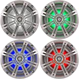 Best Kicker Sound Quality Speakers - 2- Pair (4-Speakers) Multi Color LED Lights Kicker Review