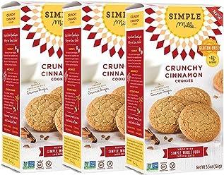 Simple Mills Crunchy Cookies, Cinnamon, Naturally Gluten Free, 5.5 oz, 3 count