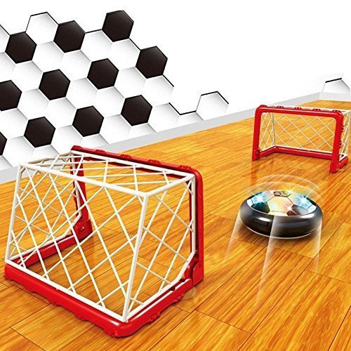 Hot Kids Toys Hover Fun LED Football Indoor Soft Foam Floating Ball Air Soccer (FOOTBALL GOAL)