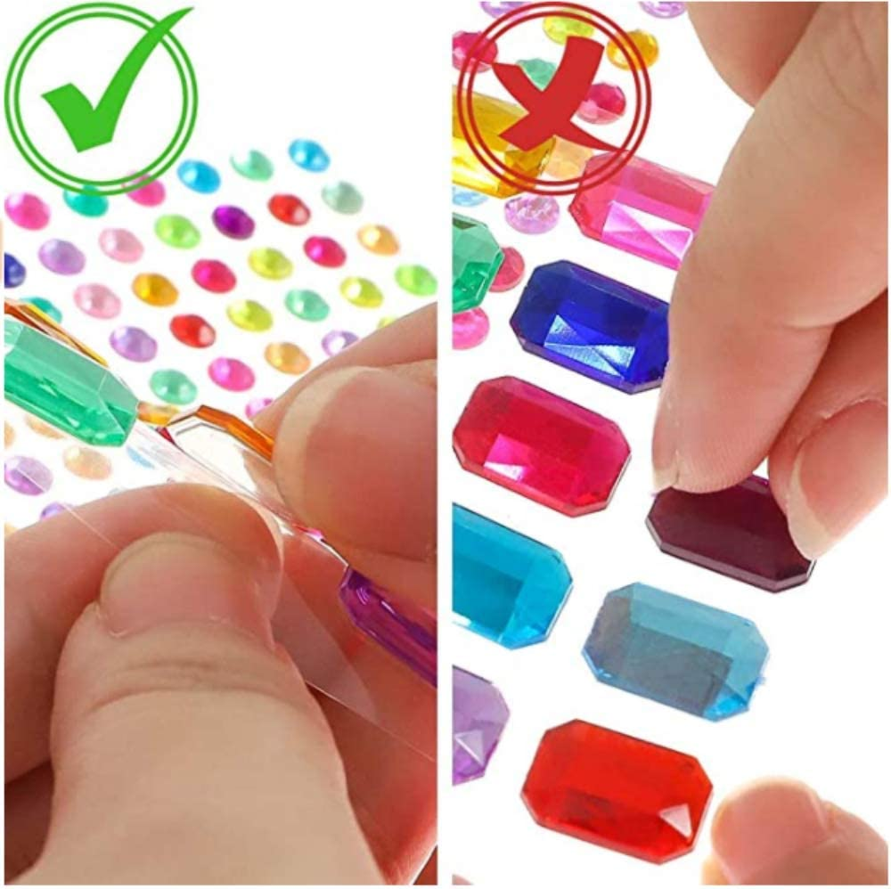 gl/änzende Edelsteinaufkleber aus Kristall geeignet f/ür DIY-Bastel-Make-up Heatigo-Selbstklebende Strassaufkleber 11 Selbstklebende Strassaufkleber