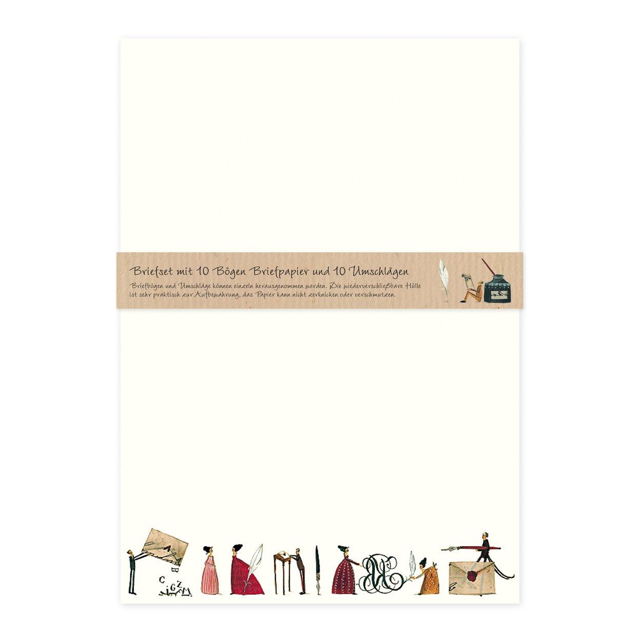 Carta da lettere, formato DIN A4, 10 fogli con buste in coordinato. Grätz Verlag
