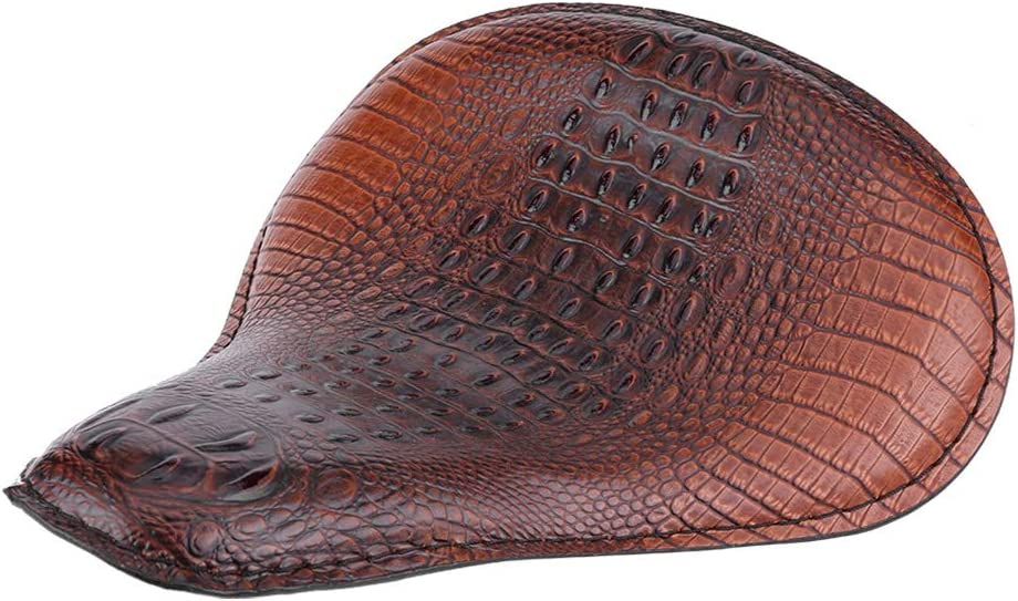 Croco Brown Suuonee Motorcycle Seat Motorcycle Calabash Bronze Soft Leather Solo Seat Bracket Spring