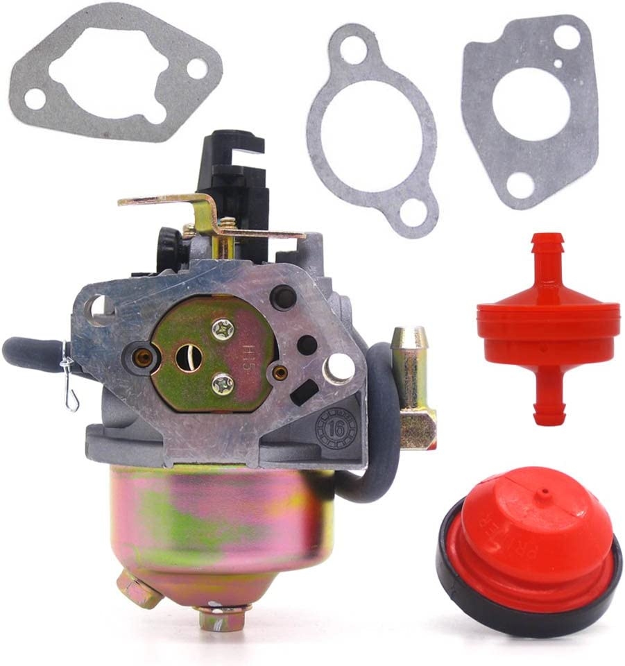 FitBest Carburetor with Primer Bulb Fuel Line Filter for Cub Cadet, MTD, Troy-Bilt Snowblower 751-11303, 951-14023A, 951-11303, 951-11303A Carb
