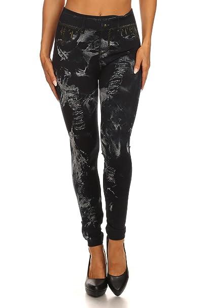 e4d91ff941791 World of Leggings Jazzy Faux Denim Leggings at Amazon Women's Clothing  store: