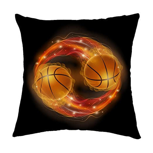 Rosy Nubes Luces de balón de baloncesto en llamas y ...
