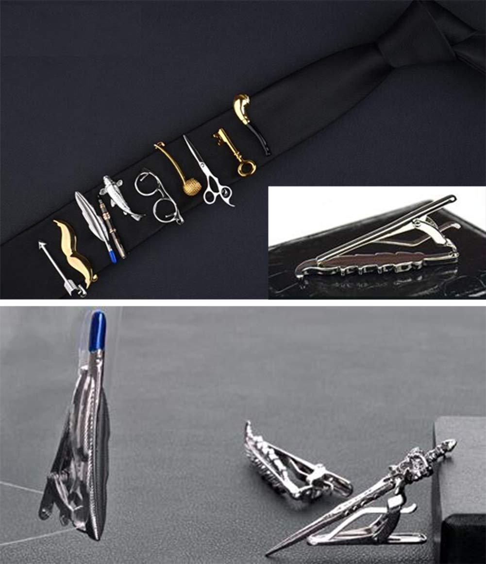 Creative Tie Clip for Men Alloy Necktie Clip Tie Bar Clip Wedding//Business//Party Clip #19
