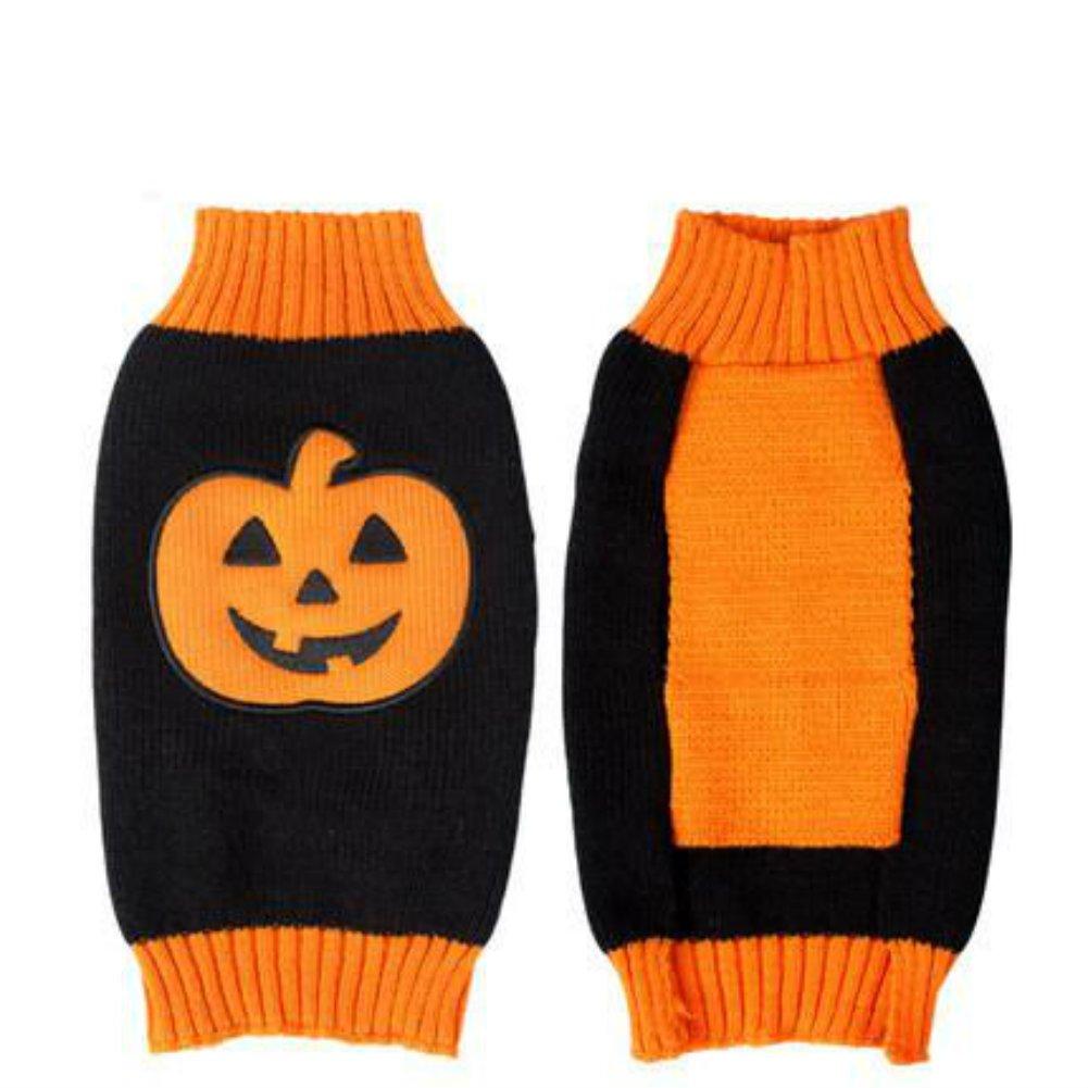 Dog Clothes Sweatshirt for Dogs Halloween Pumpkins Designer Dog Sweater 18 Back Length X-Large