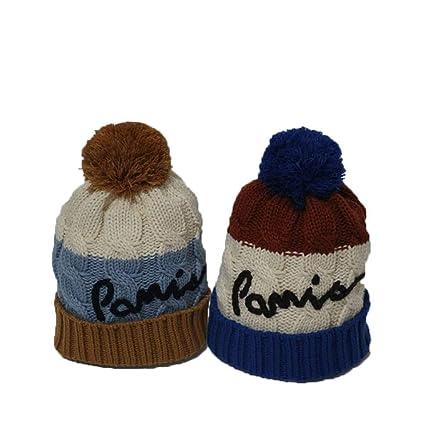 AZUO Bambino Bambino Bambino Piccolo Tricolore Lettere di Ortografia  Berretto di Lana Bambino Inverno Cappello Cappello ff3c550b8b24
