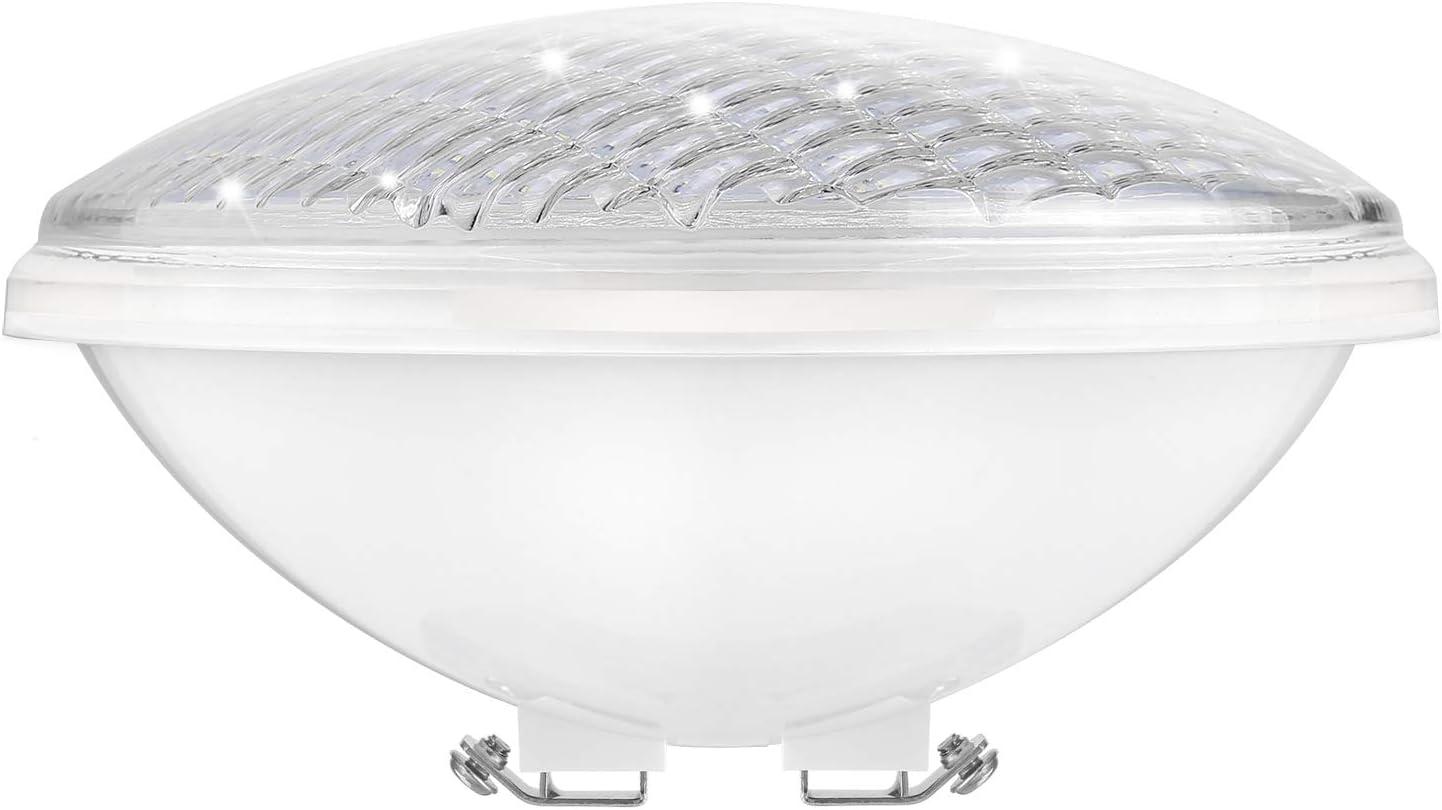 COOLWEST PAR56 Luces de la piscina LED 36W Blanco 6000K Iluminación de piscinas 12V Luminarias subacuáticas IP68 impermeables Reemplazar bombillas halógenas de 300W