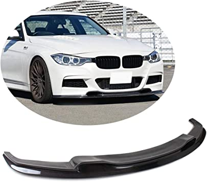 Gloss Black Front Splitters Bumper Lip for BMW 3 Series F30 M Sport 2013-2017