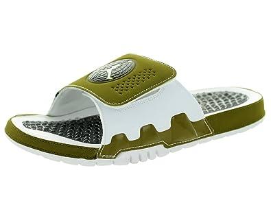 1fd216b1357a Nike Jordan Men s Jordan Hydro IX Retro Militia Green White White Blck  Sandal