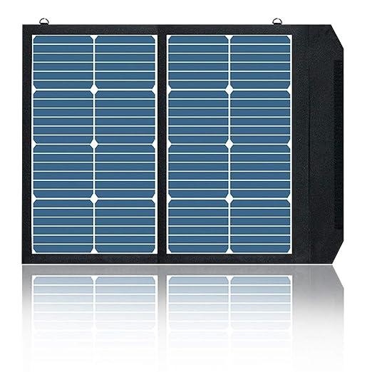 QCHNES Cargador Solar Power Bank 45W Cargador de Panel Solar ...