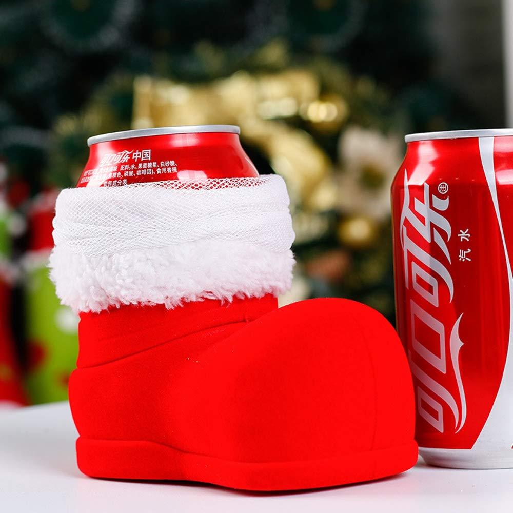JUNMAONO Christmas Decoración, PVC Zapatos, Navidad Botas, Botas De Botella De Vino, Bolsa De Almacenamiento, Navidad Decoraciones, Adornos Navideños: ...