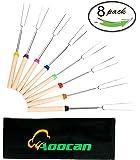 Aoocan Marshmallow Roasting Sticks, 32-Inch (Roaster Sticks Set of 8)