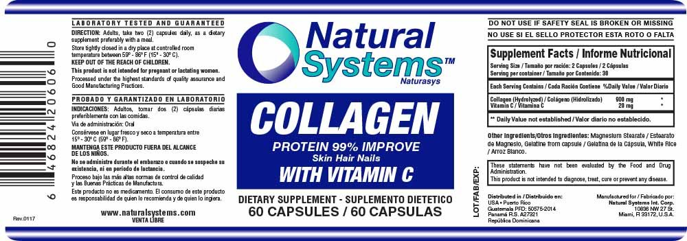 Collagen With Vitamin C 60 capsules | Anti-Aging Nutritional Supplement Rich In Vitamin C - Skin, Nails & Hair Rejuvenation: Health & Personal Care