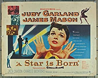 Star Is Born, A (1954) Original Warner Brothers Half Sheet Movie Poster 22x28 JUDY GARLAND JAMES MASON Film Directed by George Cukor