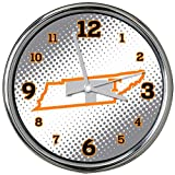 NCAA University of Tennessee, Knoxville Col-TN-2238Chrome Clock - State of Mind Style, Multi, One Size