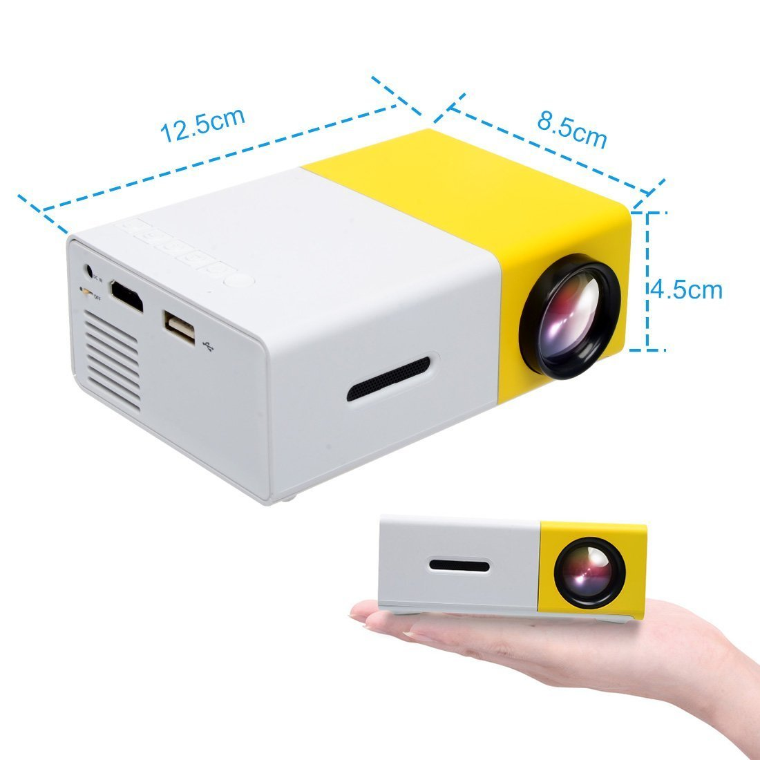 Amazon.com: Soldcool Portable LED Projector Outdoor Cinema Theater ...