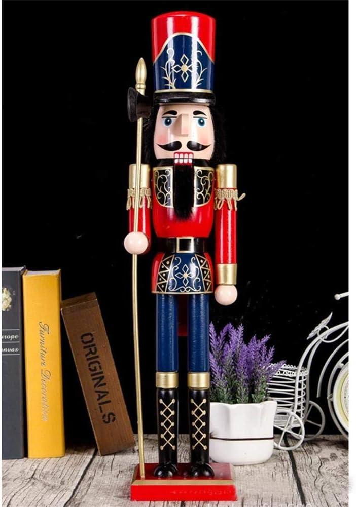 Hemistin 60 cm Casse-Noisette Ornement en Bois Casse-Noisette Soldat Marionnette Jouet De No/ël Suspendu Ornement D/écorations Great