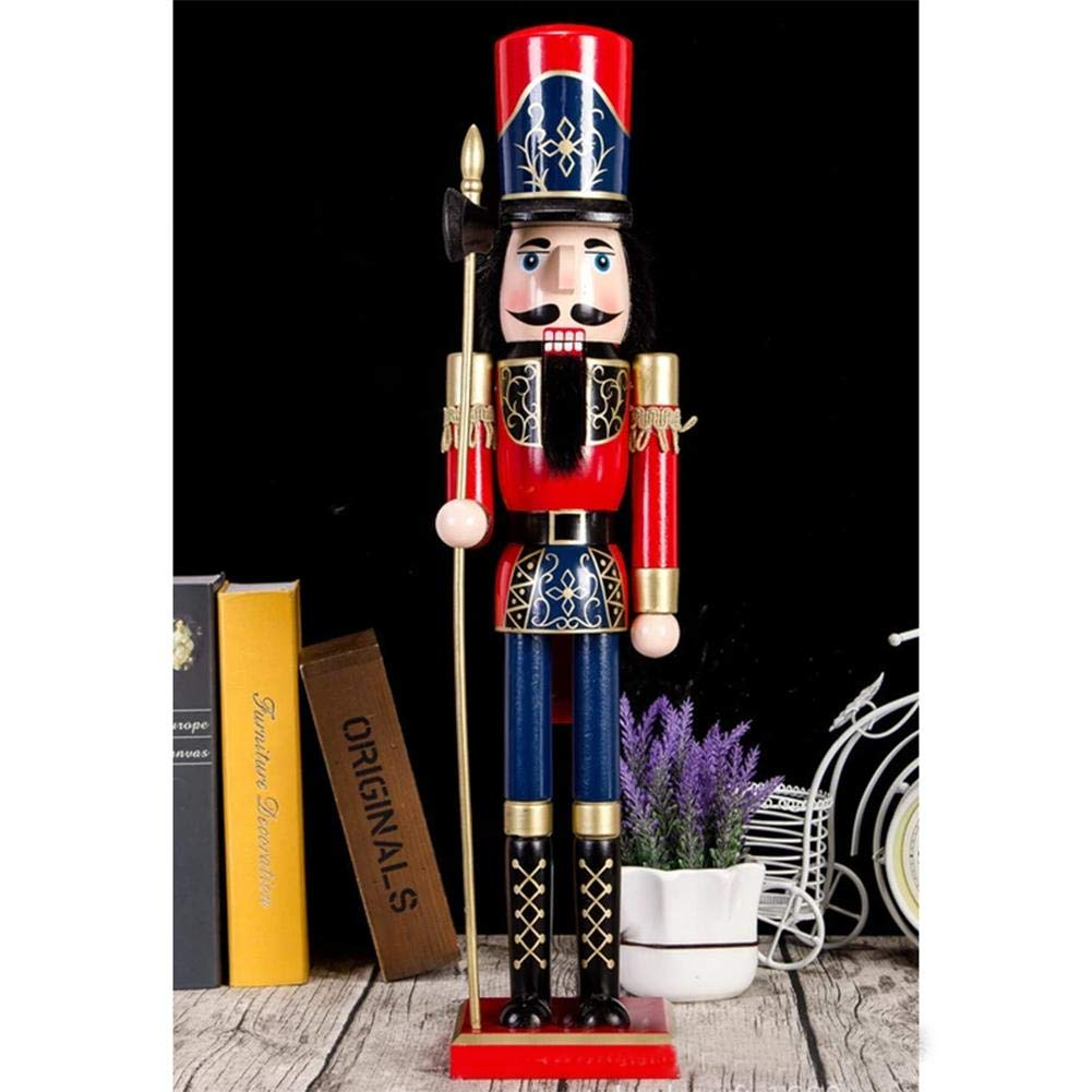 lingzhuo-shop Schiaccianoci di Natale Decorazioni Natalizie A Forma di Soldato 60CM Grandi Manufatti per La Casa in Stile Britannico