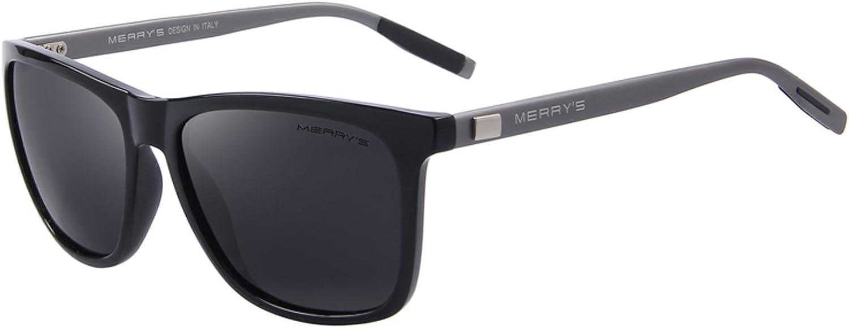 Amazon.com: MERRY'S Unisex Polarized Aluminum Sunglasses Vintage Sun Glasses  For Men/Women S8286 (Black, 56): Clothing