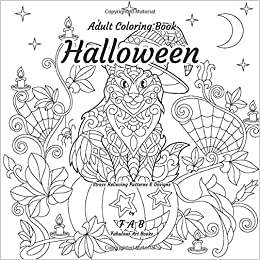 Halloween Adult Coloring Book Stress Relieving Patterns
