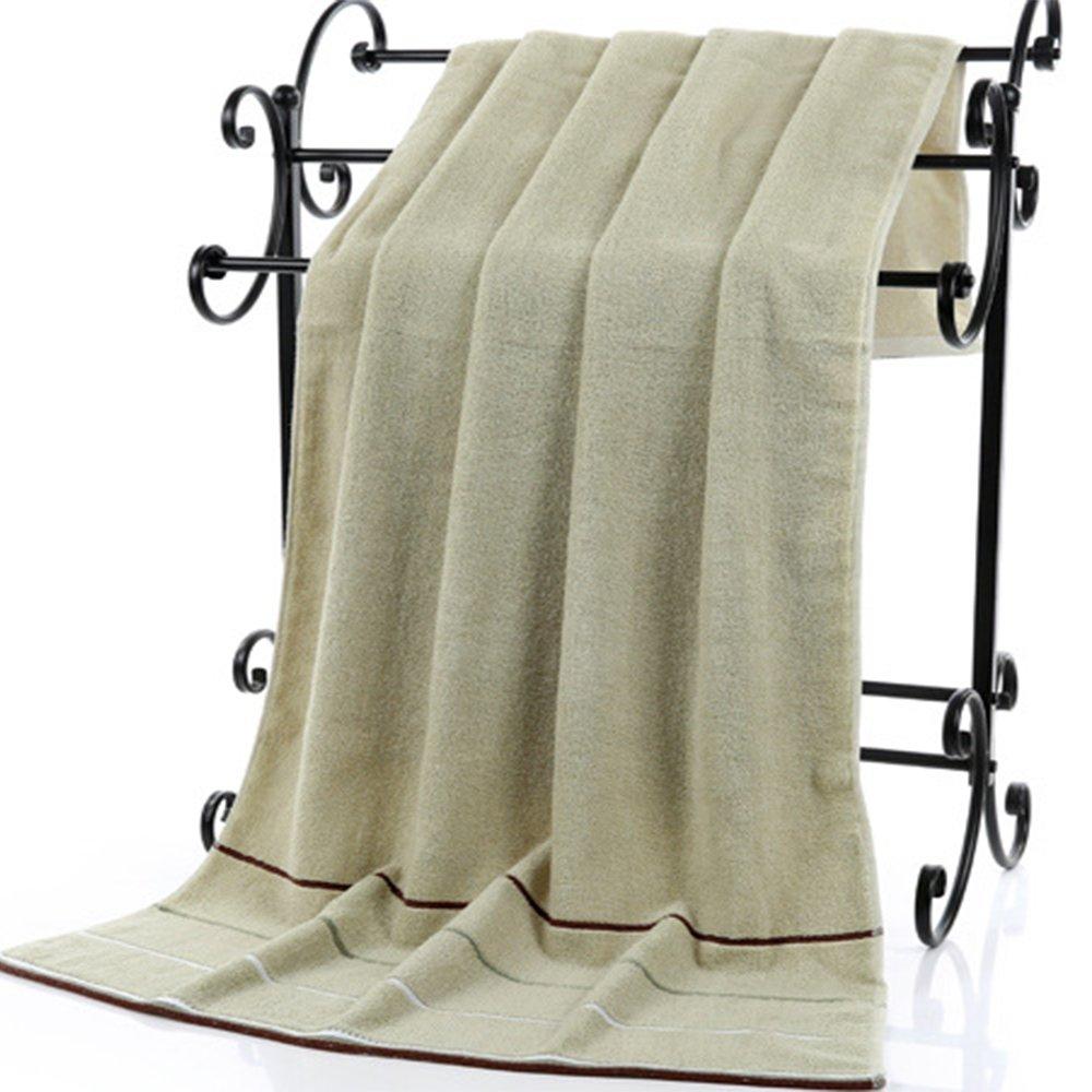 Juego de 3 toallas de ba/ño de mano de algod/ón puro 600 g verde marr/ón color blanco 35 x 75 cm juego de 1 toalla de ba/ño calidad de hotel 3 colores 70 x 140 cm 2 toallas de mano