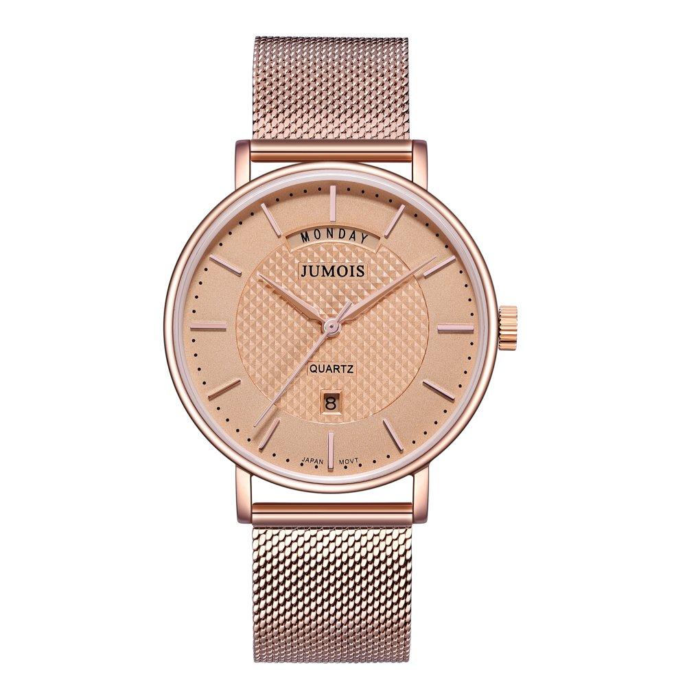 Jumois Ultra Thin Minimalist Business Casual Fashion Watch for Women, 5ATM Waterproof,37mm Diameter
