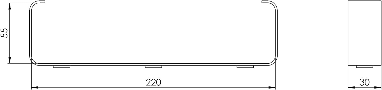 Kanalhalterung Halter 2 St/ück f/ür 55x220 Flachkanal L/üftungssysteme L/üftungskan/äle