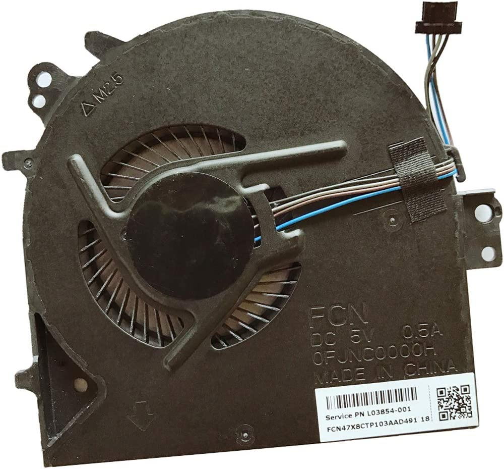 Replacement Compatible Laptop CPU Cooling Fan Cooler for HP Probook 450 G5 455 G5 470 G5 Series pn L03854-001 FJNC FCN OFJNC0000H LaptopS