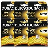 6 x Duracell CR1620 DL1620 ECR1620 3V Lithium Button Battery Coin Cell Batteries