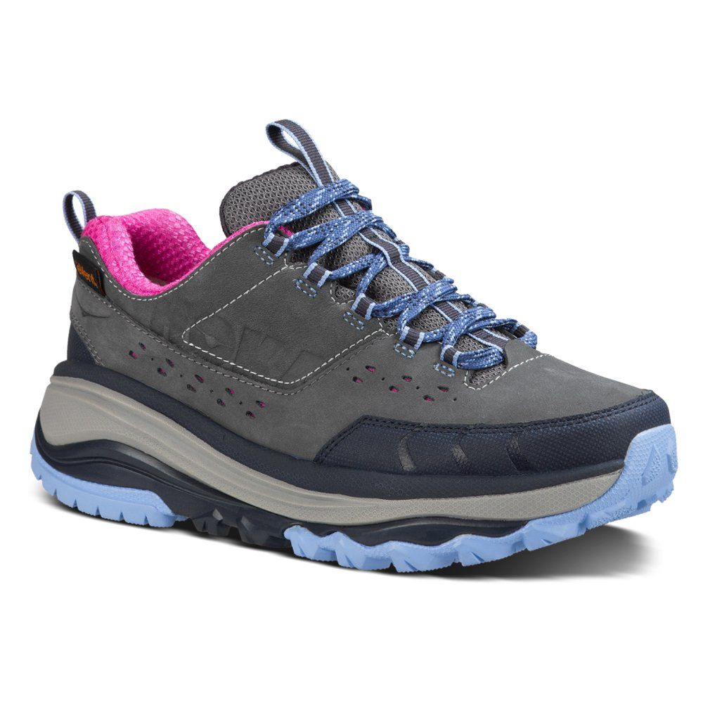 HOKA ONE ONE Women's Tor Summit Waterproof Hiking Shoe B00R8NLH04 8 B(M) US|Steel Grey/Hydrangea
