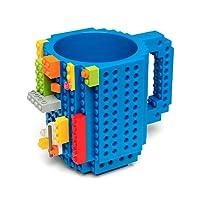 Redlemon Taza de Bloques Armables (Tipo Lego), Taza para Café y Bebidas Calientes