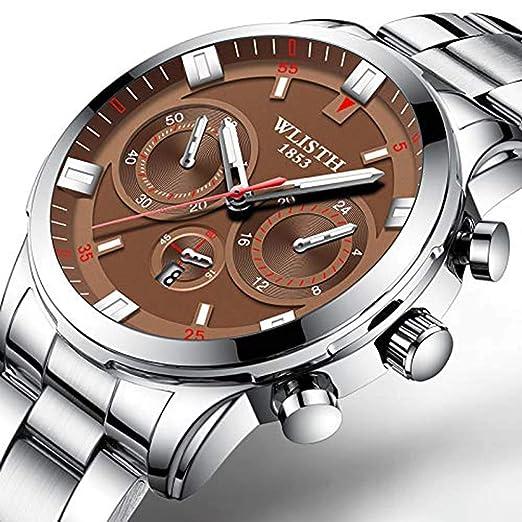 Hermosos Relojes mecanicos Relojes de Cuarzo Reloj de imitación de los Hombres Reloj de Tres Agujas: Amazon.es: Relojes